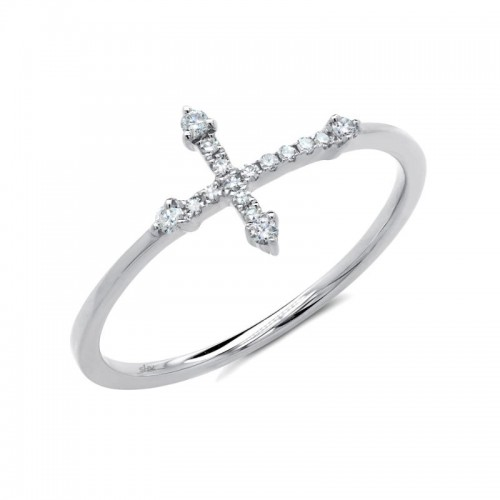 Diamond Cross Ring by SHY Creation