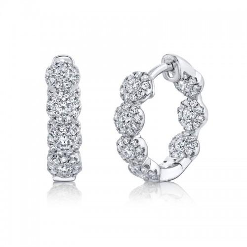SHY Creation Diamond Hoop Earrings