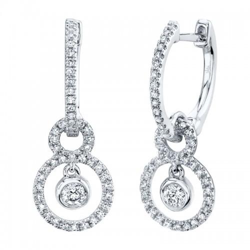 SHY Creation Diamond Circle Huggie Earrings