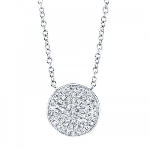 Diamond Pave Disc Pendant by SHY Creation