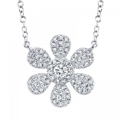 SHY Creation Diamond Flower Necklace