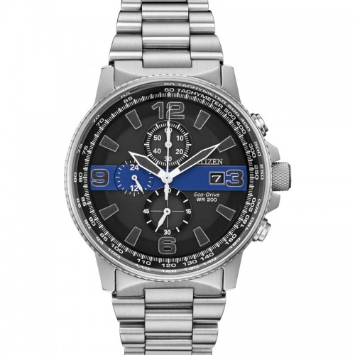 Men's Thin Blue Line Nighthawk Watch For Law Enforcement