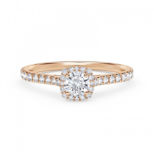 Forevermark Center of My Universe® Round with Cushion Halo Engagement