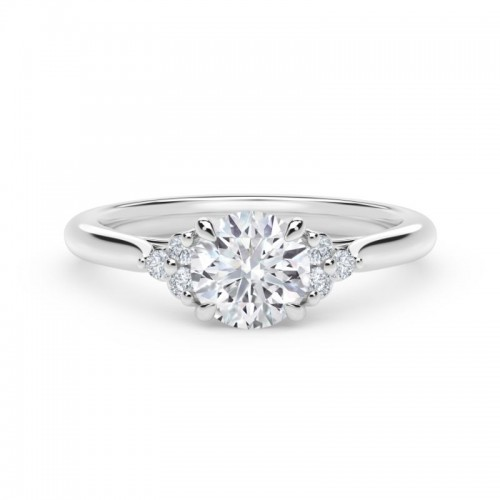 """Forevermark Accentâ""""¢ Engagement Ring with Triple Sides"""
