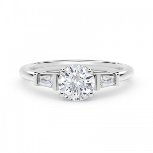 """Forevermark Accentâ""""¢ Engagement Ring with Tapered Baguette Sides"""
