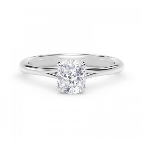 Forevermark Icon™ Setting Cushion Engagement Ring with Diamond Basket