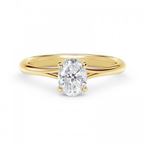 "Forevermark Iconâ""¢ Setting Oval Engagement Ring with Diamond Basket"