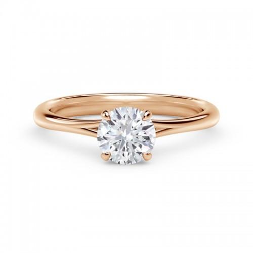 Forevermark Icon®  Setting™ Round Engagement Ring with Diamond Basket