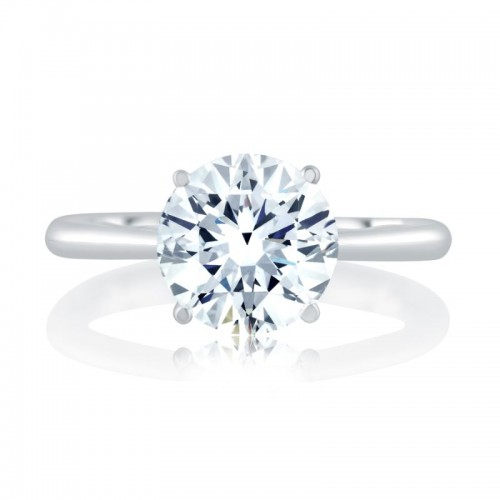 A.JAFFE Quilted Solitaire Engagment Semi Mount with Surprise Diamonds