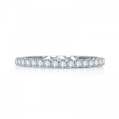 A.JAFFE Quilted Diamond Wedding Band