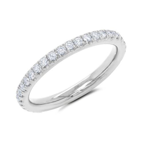 Lady's 0.55Ct 14K White Gold Diamond Eternity Band