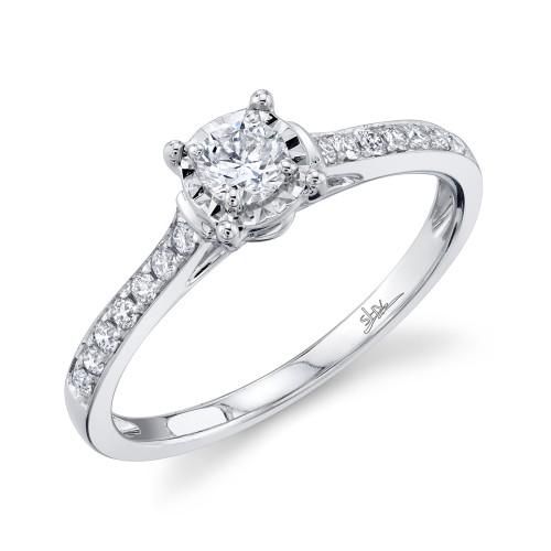Lady's 14Kw 0.39Ct Round Diamond Engagement Ring