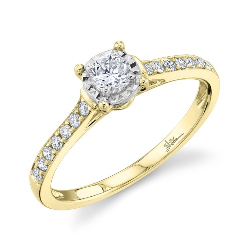 Lady's 14Ky 0.39Ct Round Diamond Engagement Ring