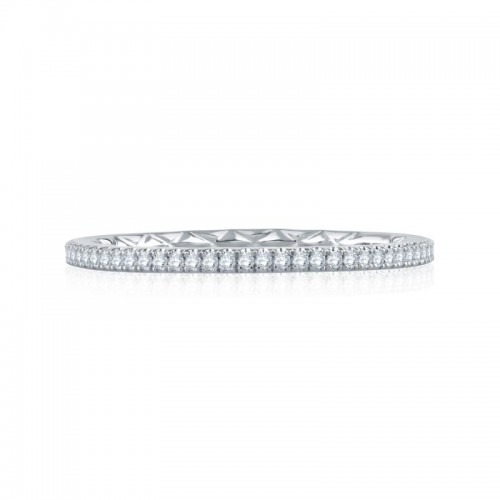 A.JAFFE Delicate Quilted Diamond Eternity Ring