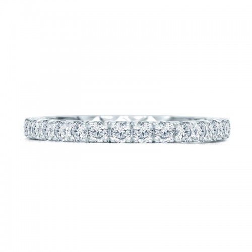 A.JAFFE Quilted Halfway French Pave Anniversary Ring