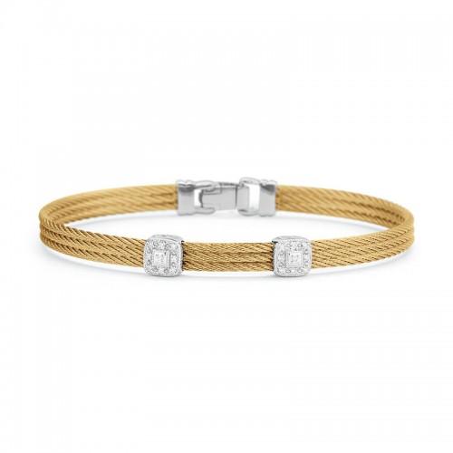 Alor Yellow Cable Stackable Bracelet