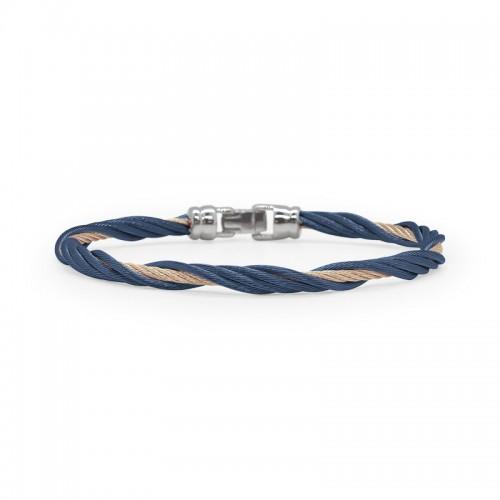 Alor  Blueberry and Carnation Twist Bracelet