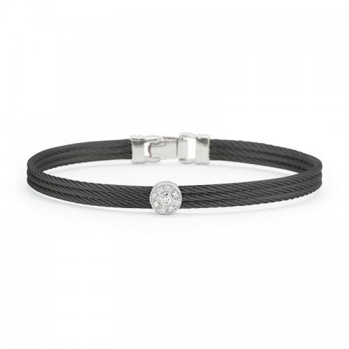 Alor Black Cable Classic Stackable Bracelet