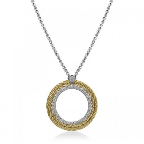 Alor Cable Circle Pendant Necklace