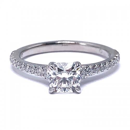 Forevermark Icon®  Setting™ Black Square Engagement Ring with Diamond Basket