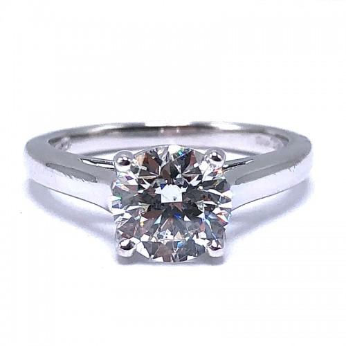 Trellis Solitaire Diamond Engagement Ring