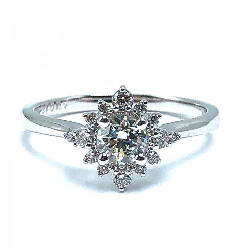 Round Diamond Engagement Ring by Love Story