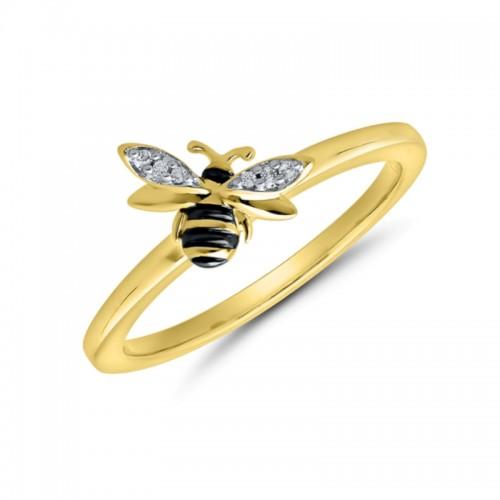 Bee Design Diamond Fashion Ring