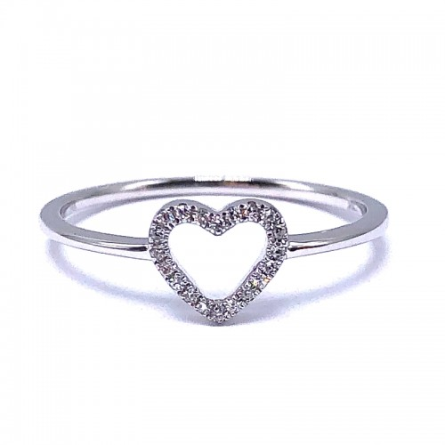 Diamond Heart Ring by SHY Creation