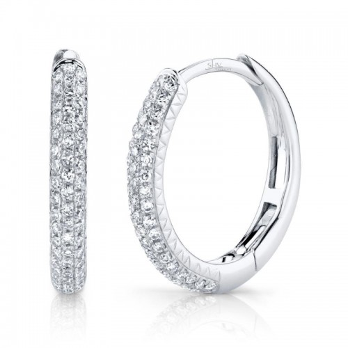 Diamond Pave Hoop Earrings by SHY Creation