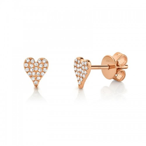 Diamond Pave Heart Earrings by SHY Creation