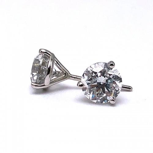 Diamond Solitaire Earrings