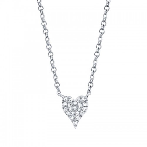 Diamond Pave Heart Necklace by SHY Creation