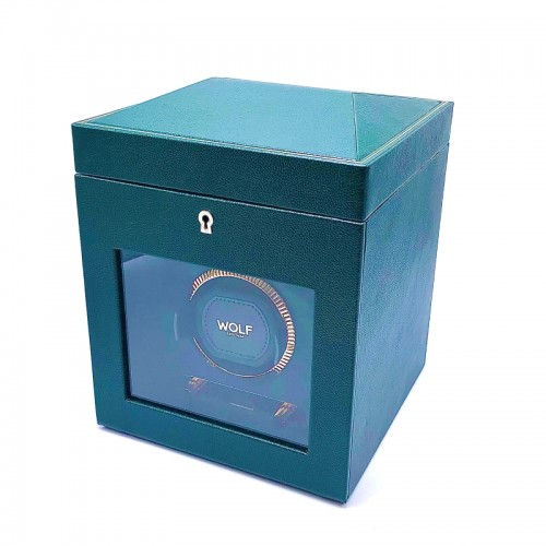 Green Leather Watch Winder by Wolf