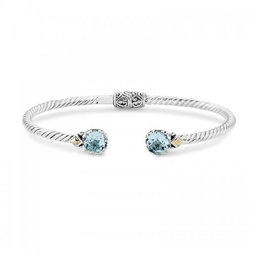 Sterling silver Blue Topaz Bangle Bracelet by Samuel B.
