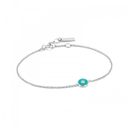 Ania Haie Sterling Silver Enamel Disc Bracelet