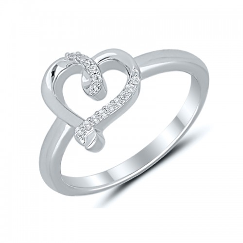 Sterling Silver Fashion Heart Ring