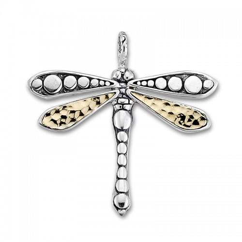 Sterling Silver Dragonfly Pendant by Samuel B.
