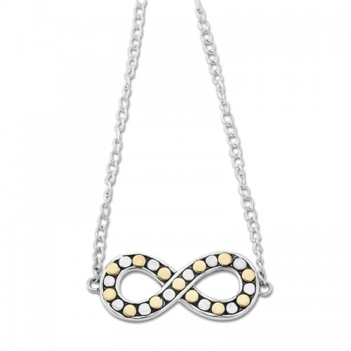 Sterling Silver Beaded Infinity Necklace by Samuel B.