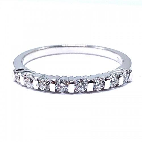 Estate Diamond Bar Set Ring