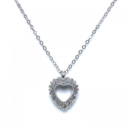 Estate Diamond Heart Pendant
