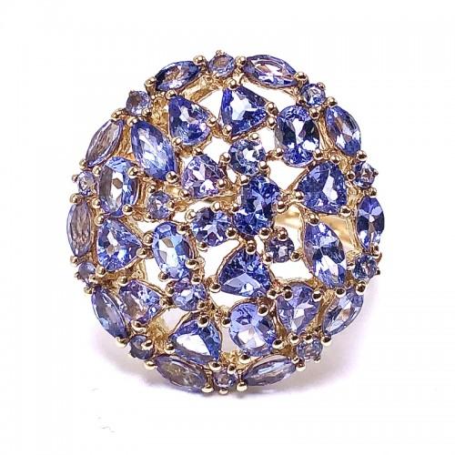 Estate Ladies Tanzanite Cluster Ring