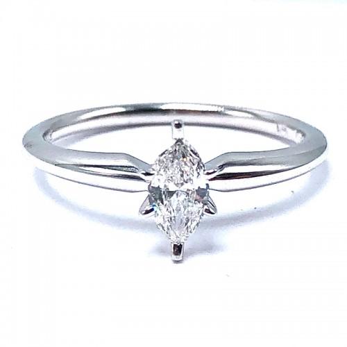Estate Marquise Diamond Engagement Ring