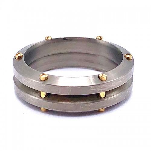 Estate Men's Titanium Chimento Ring