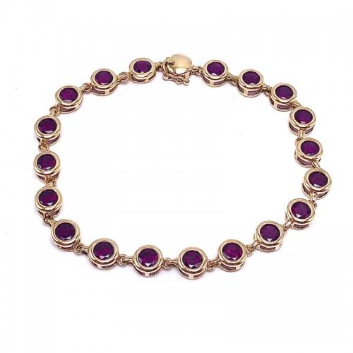 Estate  Garnet Bezel Bracelet