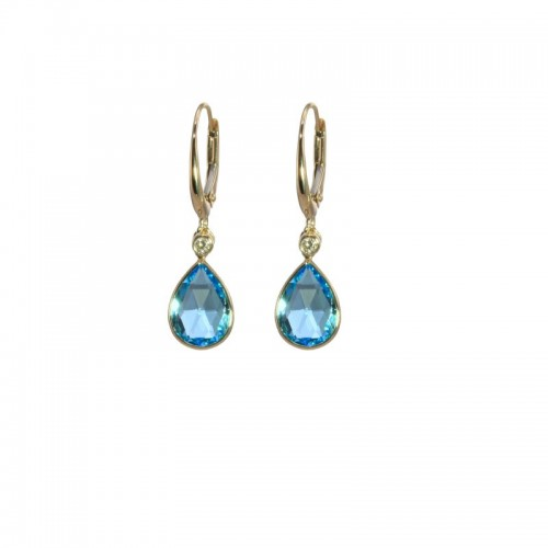 Swiss Topaz Earrings With Diamond Accents by Olivia B