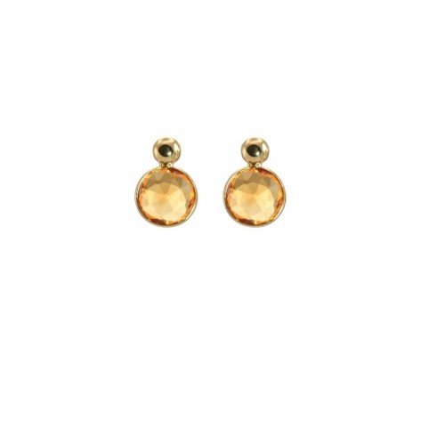 Round Citrine Earrings by Olivia B