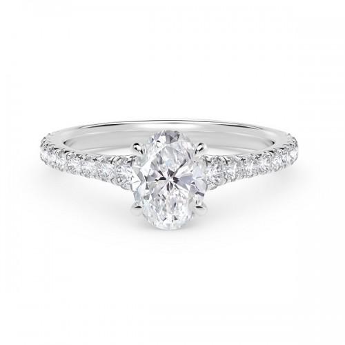 Forevermark Icon Oval Diamond Engagement Ring