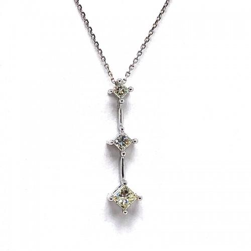 Estate Multi Diamond Pendant