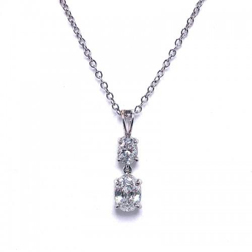Estate Double Diamond Pendant