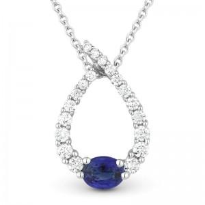 Blue Sapphire & Diamond Necklace